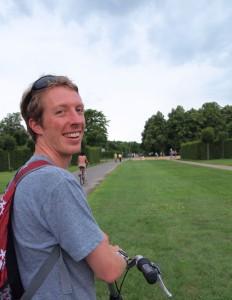 Rob on a bike